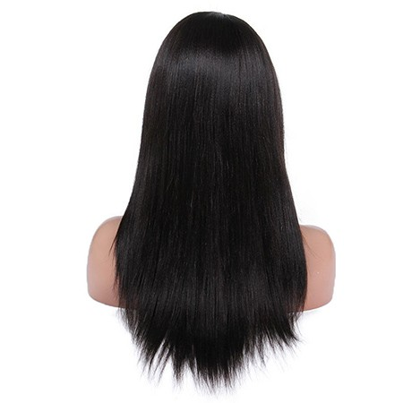 Virgin human hair silk base straight lace front wig