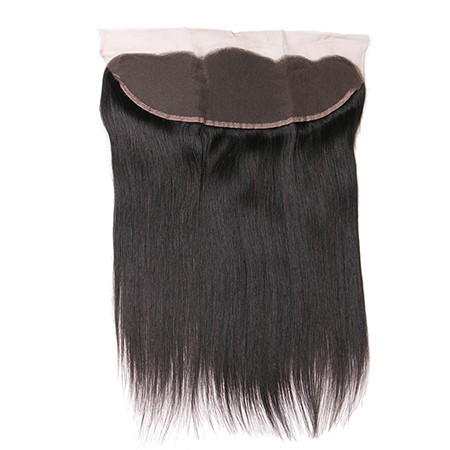 Virgin human hair straight lace frontal