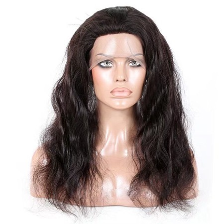Virgin human hair natural wave 360 lace closure