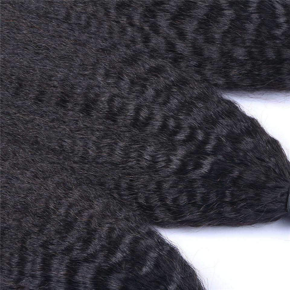 Kinky straight Virgin Human Hair Bundles02