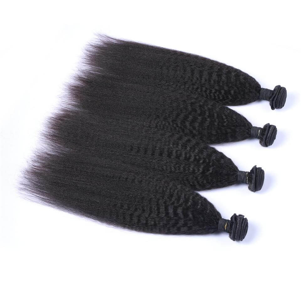 Kinky straight Virgin Human Hair Bundles03