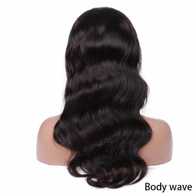 Virgin human hair lace front wig01