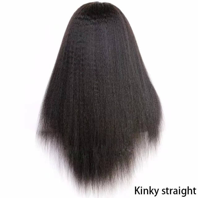 Virgin human hair lace front wig02