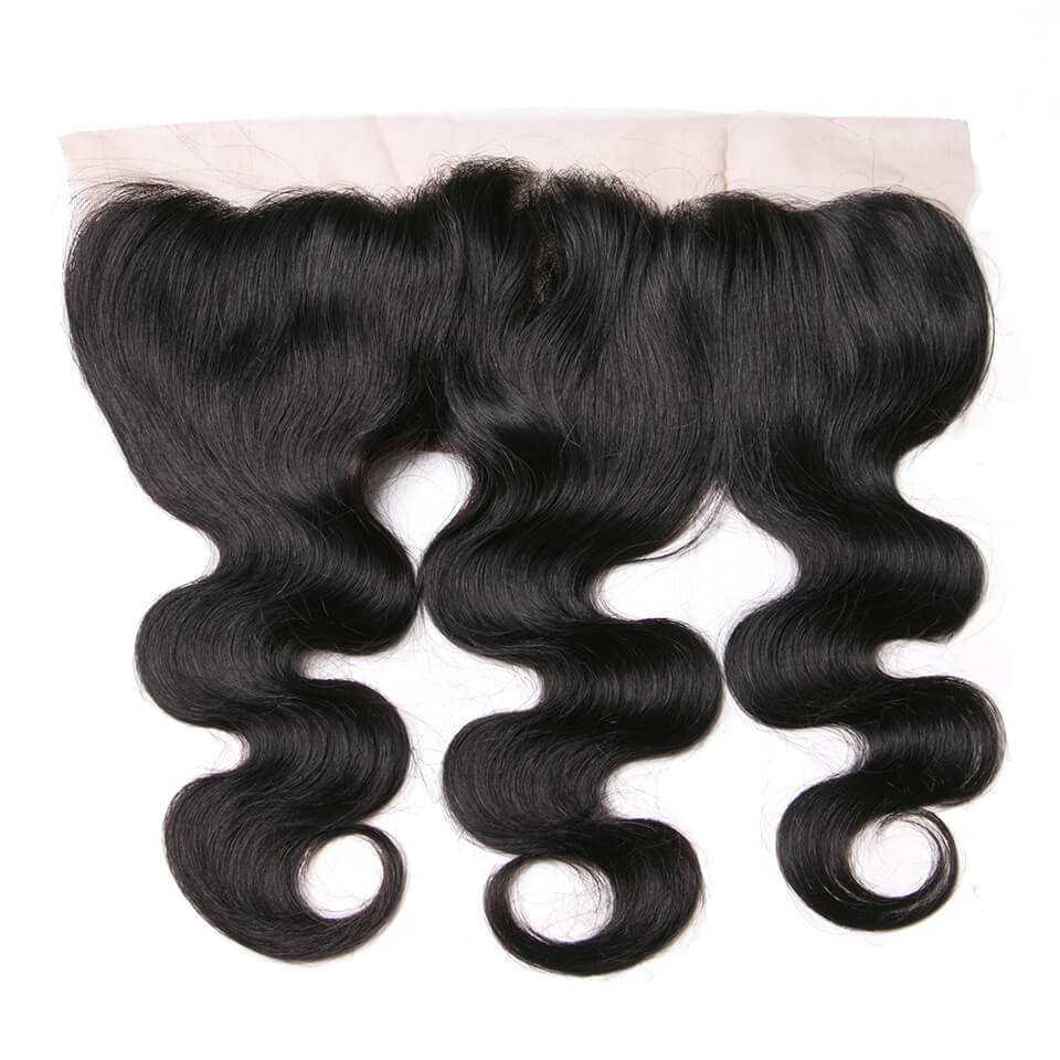 Virgin human hair body wave lace frontal01