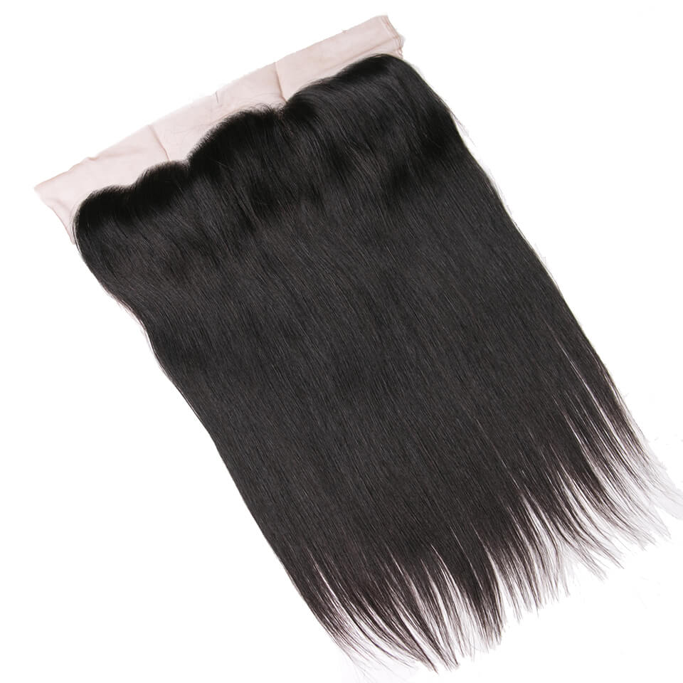 Virgin human hair straight lace frontal01