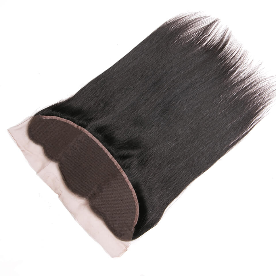 Virgin human hair straight lace frontal02
