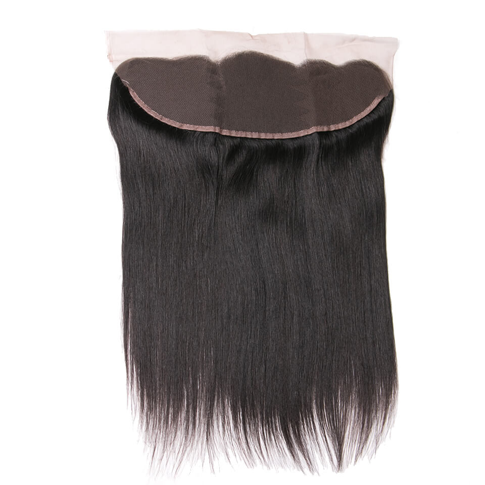 Virgin human hair straight lace frontal03