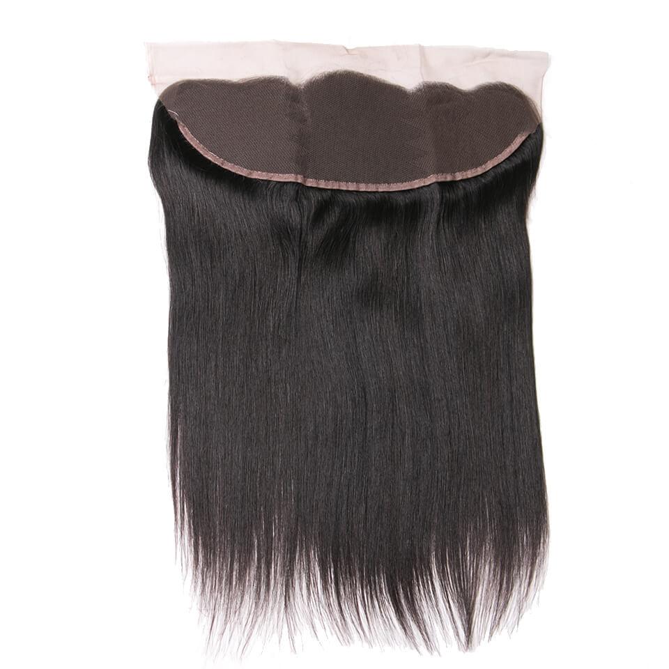 Virgin human hair straight lace frontal03