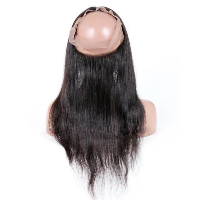 Virgin human hair straight 360 lace closure